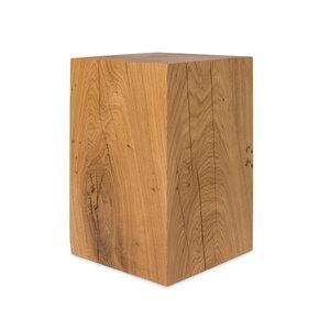 Dekosäule 25x25cm von GreenHaus® Holzsäule Eiche Massivholz Podest - GreenHaus