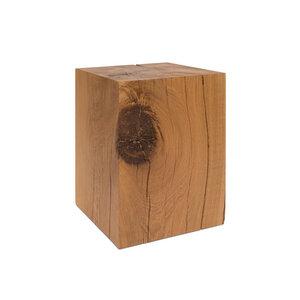 Dekosäule 36x36cm von GreenHaus® Holzsäule Eiche Massivholz Podest - GreenHaus
