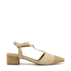 NAE Duhr Nude | Veganer Damen- Point- Cap- T- Strap- Schuh - Nae Vegan Shoes