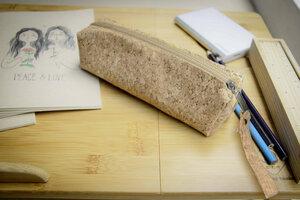 Federmappe Etui aus Kork, Vegan Pencil bag, Kork Tasche - BY COPALA