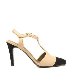 NAE Alya Nude | Vegane Damen- Punktkappen- T- Strap- Schuhe - Nae Vegan Shoes
