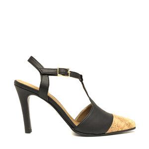 NAE Alya Black | Vegane Damen- Punktkappen- T- Strap- Schuhe - Nae Vegan Shoes