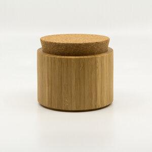 Bambus Dose mit Korkdeckel - Bambu
