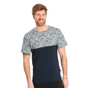 Bicolor T-Shirt Dunkelblau - bleed