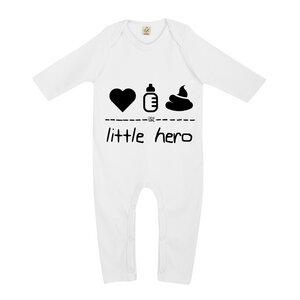 little hero – Strampler  - DENK.MAL Clothing