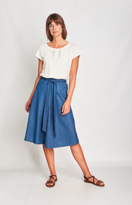 Anna Denim Swing Skirt - bibico
