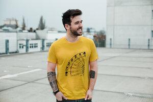 """Bio Faires Herren T-Shirt """"Ferris Wheel"""" diverse Farben - ilovemixtapes"""