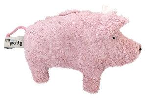 "Greifling mit Rassel ""Schwein"" rosa , 100 % Baumwolle-kbA - PAT & PATTY"