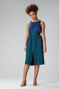 Tulpina Kleid midi blau grün - Flowmance