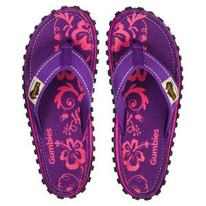GUMBIES Purple Hibiscus – Vegane Badesandalen für Damen - GUMBIES