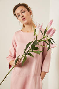 Kleid aus Modal mit Baumwolle Natural Dyeing - LANIUS