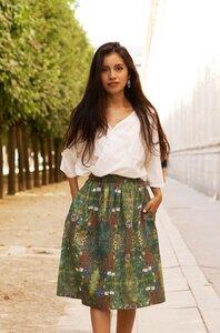 Blumen-Rock aus edelster Pima-Baumwolle aus Peru - Apu Kuntur
