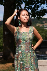 Blumen-Kleid aus edelster Pima-Baumwolle aus Peru - MATILDE  - Apu Kuntur