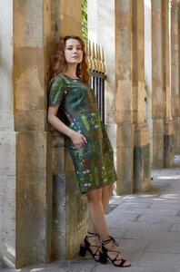 Kurzes Blumen-Kleid aus edelster Pima-Baumwolle aus Peru - Apu Kuntur