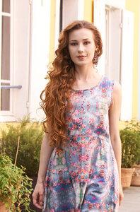 Midi-Kleid aus edelster Bio Pima-Baumwolle aus Peru - ARABELLA  - Apu Kuntur