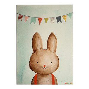 Kleines Poster Hase aus Recyclingpapier A4  - TELL ME