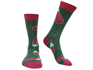Socken Bio GOTS |Bunte Socken |Herren Damen Socken | Aubergine Socks - Natural Vibes