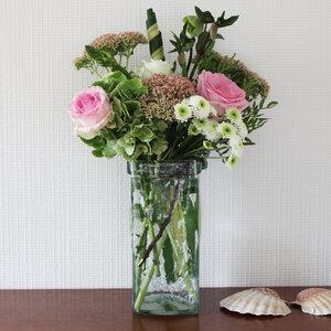 Blumenvase, Dekovase aus Glas zum Aufhängen 24cm - Mitienda Shop
