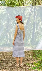 Kleid – Gina Dress Stripes – Blau - Suite 13