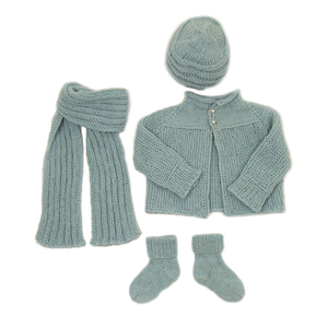 Strickset 'Kaschmir-Wolle-Seide - blau' - Preciosa