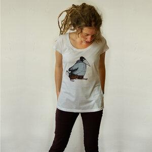 Damen T-Shirt 'Blaubeer Stig' weiss - Cmig