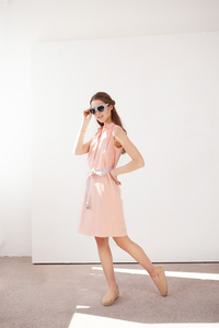 gestreiftes Kleid Anthurium aus Bio Baumwolle - ME&MAY