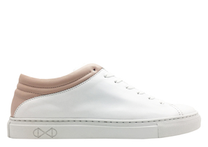 "Sneaker aus Leder ""nat-2 Sleek Low white rose"" in weiß und rosa - nat-2"
