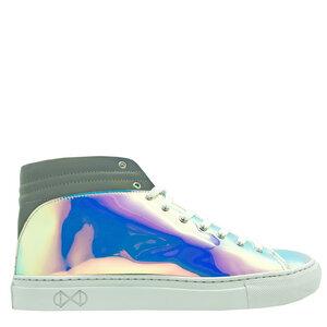 "hoher Sneaker aus recyclebarer Regenbogenfolie ""nat-2 Sleek vanish"" - nat-2"