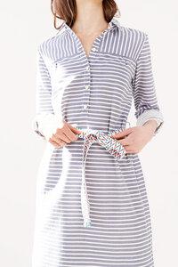 gestreiftes Hemdblusenkleid Anthurium aus Bio Baumwolle - ME&MAY