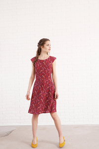 Kleid Rose aus Viskoseprint - ME&MAY