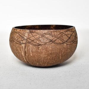 Medium Curved Coconut Bowl - Heartisan Bowls