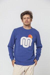 Sweatshirt - BLUE MU SUN - Blue Marino - thinking mu