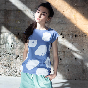 Damen T-Shirt Polar Bear Graublau Bio Fair - THOKKTHOKK