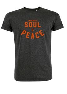 "Herren T-Shirt aus Biobaumwolle ""Soul and Peace"" - University of Soul"