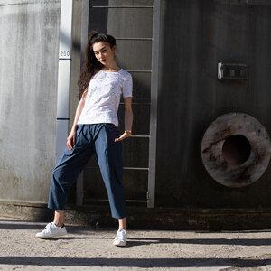 Damen T-Shirt Snippet Weiß Bio Fair - THOKKTHOKK