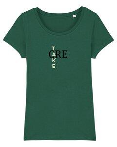 """Damen T-Shirt aus Bio-Baumwolle """"Take Care"""" - University of Soul"""