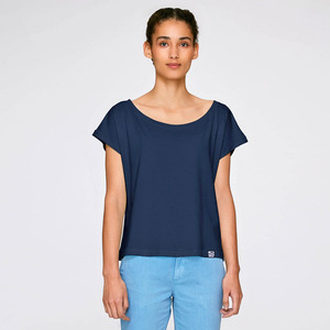 Basic Cropped Shirt Navy aus Biobaumwolle - Gary Mash