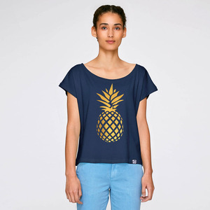 Cropped Shirt Pineapple aus Biobaumwolle - Gary Mash