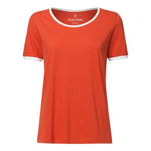 f881401f9fccac Damen T-Shirt Vintage T. Rot Bio Fair - THOKKTHOKK