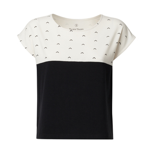 Damen Shirt Upwards Schwarz Weiß Nachhaltig Fair - THOKKTHOKK