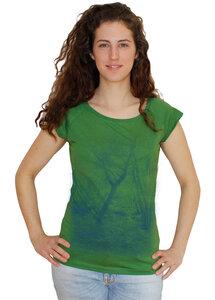 "Bambus-Biobaumwoll-T-Shirt ""Zauberwald"" - Peaces.bio - EarthPositive® - handbedruckt"