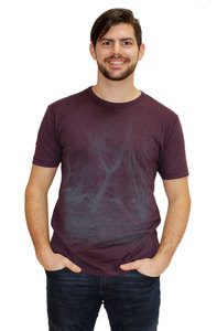 "Herren-Bambus-Biobaumwoll-T-Shirt ""Waldgeheimnis""  - Peaces.bio - EarthPositive® - handbedruckt"