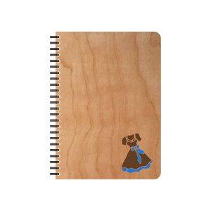 Dirndl handgefertigter Kirschholz Notizblock - echtholz