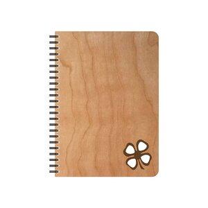 Kleeblatt wiederbefüllbarer Schreibblock - echtholz