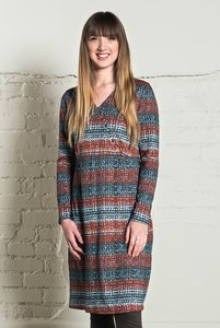 Nomads Cross Over Dress - copper  - Nomads Fair Trade Fashion