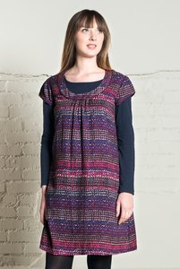 Nomads Pebble-Print Tunika-Kleid Rosewood - Nomads Fair Trade Fashion