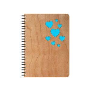 Wiederbefüllbarer Herzen Notizblock  - echtholz