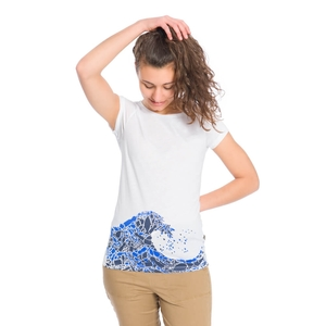Plastic Wave T-Shirt Damen - bleed