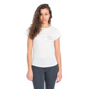 Eco Fair Yeah T-Shirt Damen Weiß - bleed