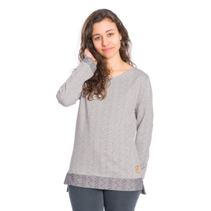 ZZ-Jacquard Sweater Damen - bleed